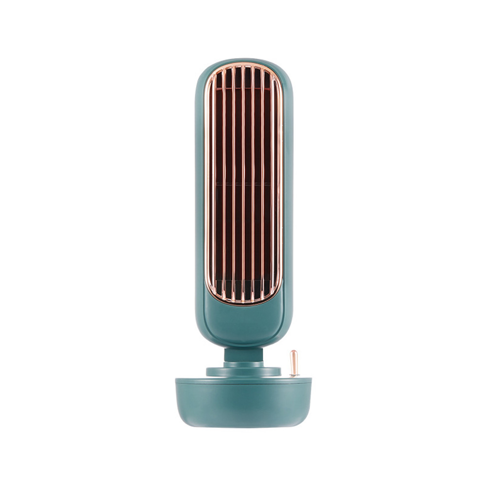 Multi-Function USB Integrated Humidification Two-In-One Tower Spray Desktop Fan  green_109 * 109 * 293mm