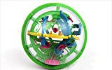 [US Direct] Lumiparty Intellect 3D Maze Ball Best Gift Independent Play for Children 7-15 Years Diameter 4.4` Containing 100 Challenging Barriers(Colors may vary)