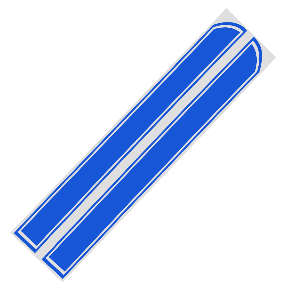 Fashion Concise Stripe Decals Car Front Cover Stickers Scratches Decoration Sticker blue
