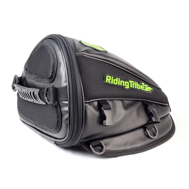 Motorycle Back Pack Oil Tank Bag Offroad Racing Saddle Bag Bike Riding Scooter Travel Luggage black