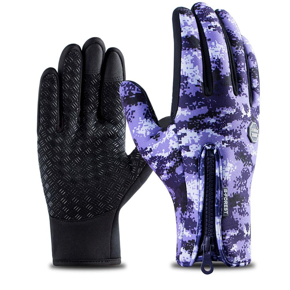 Outdoor Winter Unisex Riding Waterproof Touchscreen Gloves Plush Windbreak Warm Sports Gloves