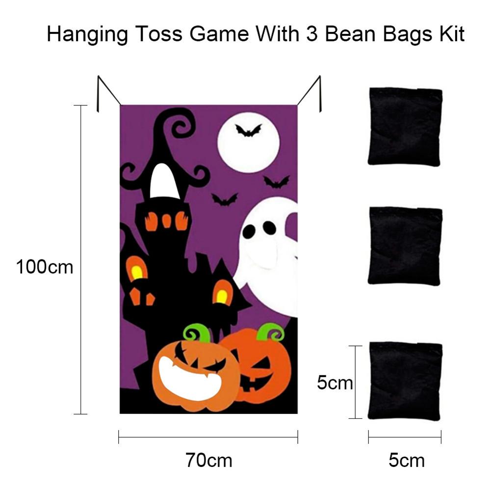 Halloween Game Installation Outdoor Sandbag Throwing Game Felt Game Halloween Curtain Decoration Type C