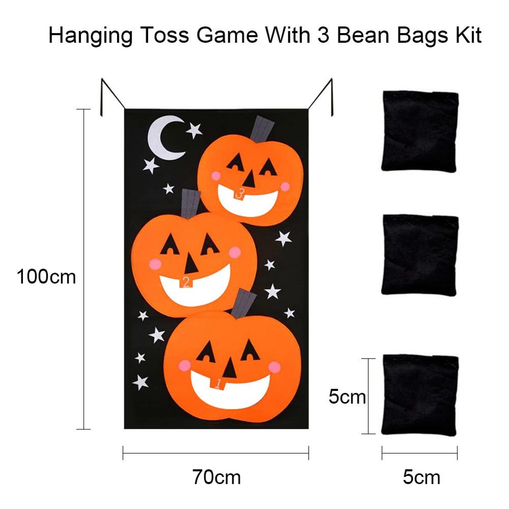 Halloween Game Installation Outdoor Sandbag Throwing Game Felt Game Halloween Curtain Decoration Type A
