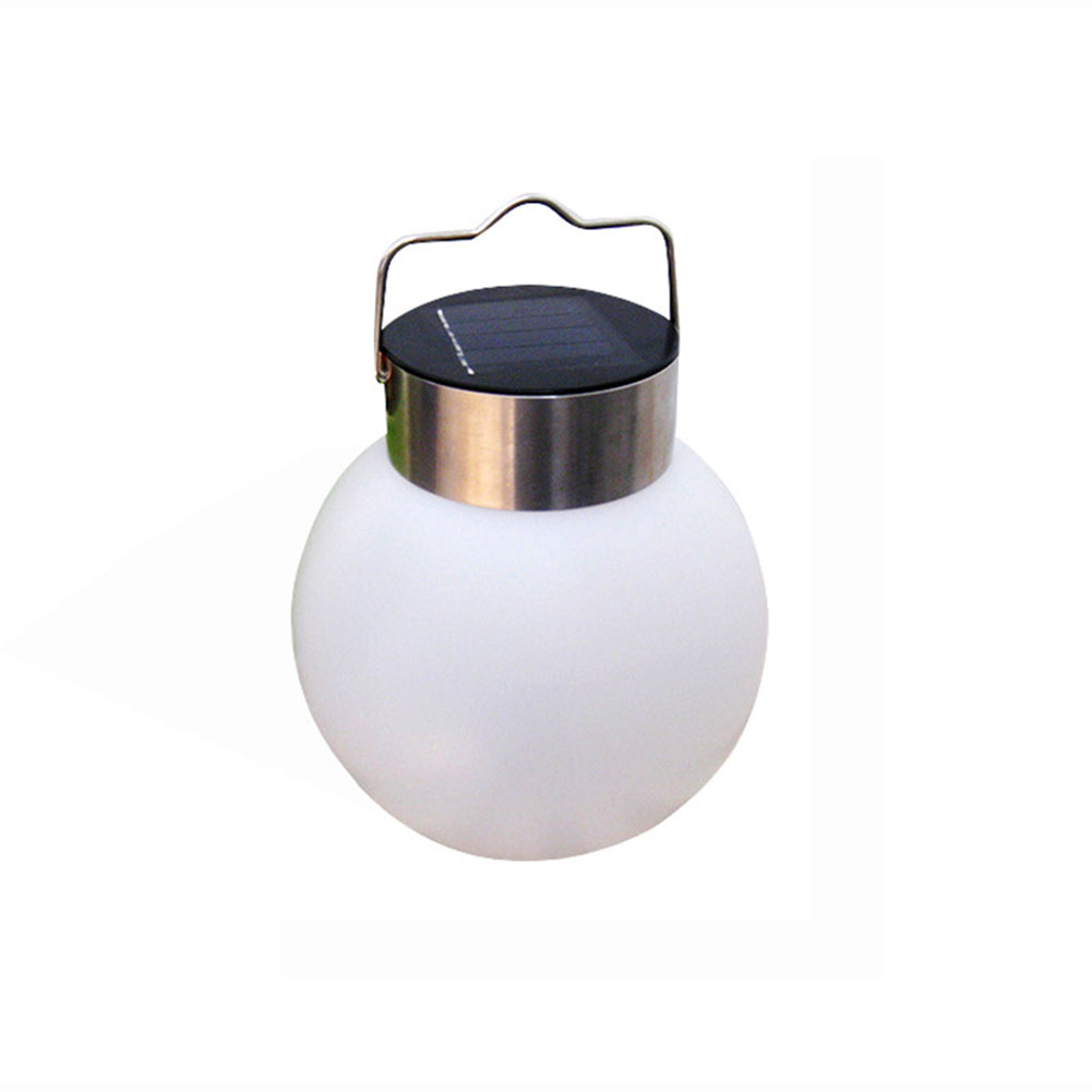 LED Ball Shape Outdoor Solar-Powered Hanging Lamp Street Light Decoration white light
