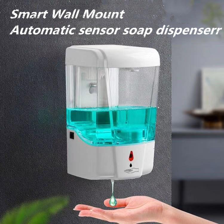 Soap Dispenser Automatic IR Sensor Touch-free Kitchen Soap Lotion Pump white