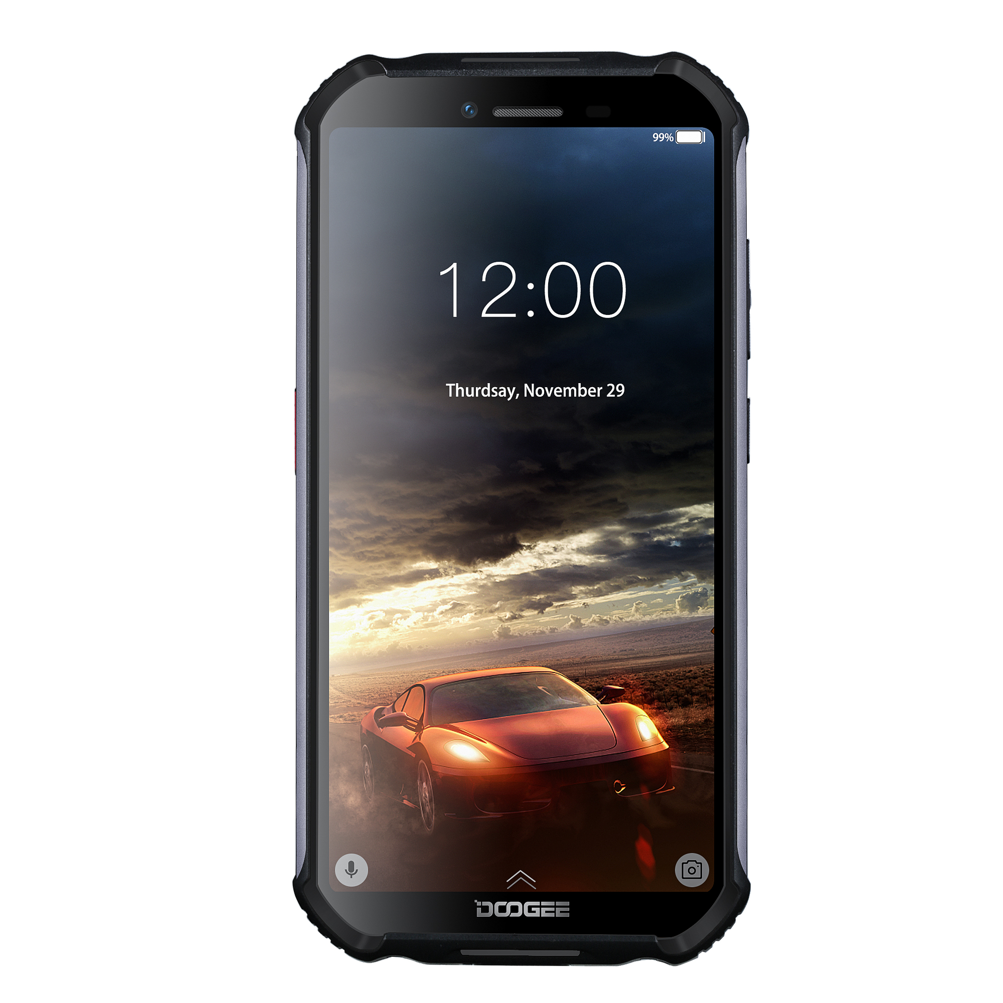 IP68 DOOGEE S40 Lite Quad Core 2GB 16GB Android 9.0 Rugged Phone Mobile Phone 5.5inch Display 4650mAh 8.0MP Fingerprint black