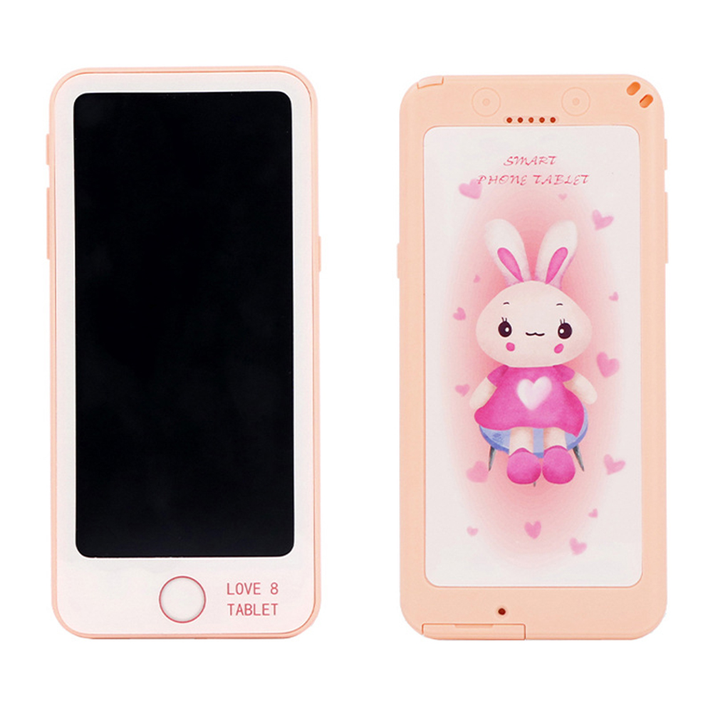 6-inch LCD Tablet Child Puzzle Early Learning Painting Electronic Board Pink+orange