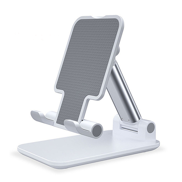 Mobile Phone Holder Stand Adjustable Tablet Stand Desktop Holder Mount For IPhone IPad  white