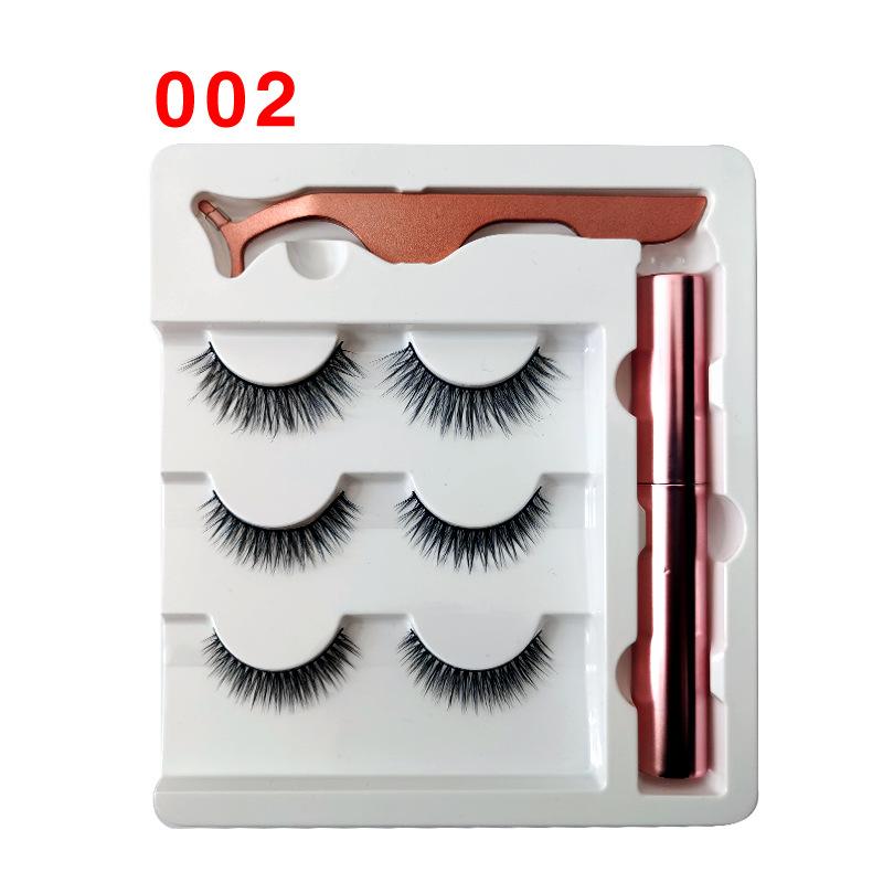 Soft Magnetic Eyeliner False Eyelashes Tweezers Set for Beauty 002