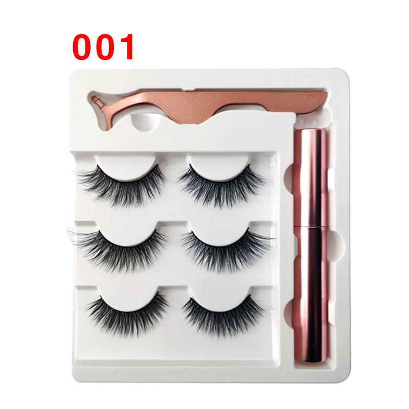 Soft Magnetic Eyeliner False Eyelashes Tweezers Set for Beauty 001