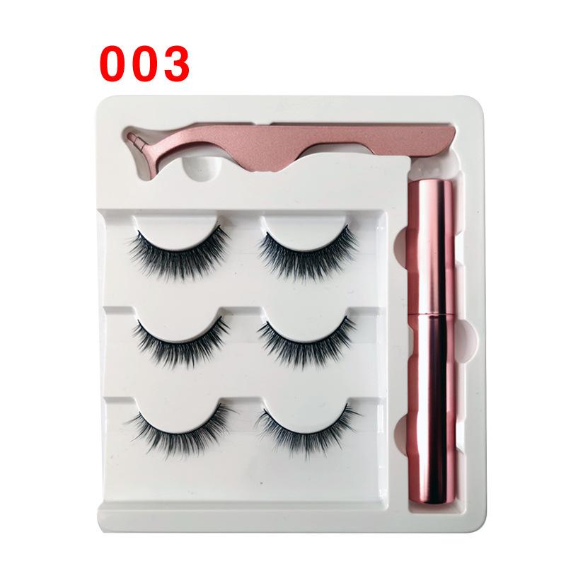 Soft Magnetic Eyeliner False Eyelashes Tweezers Set for Beauty 003