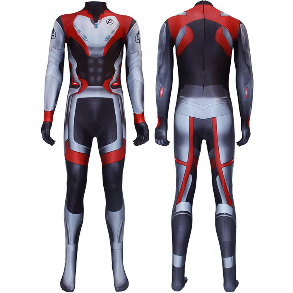 Avengers 4 Endgame Quantum Realm Cosplay Zipper Jacket Sweatshirt Bodysuit AS SHOWN_180