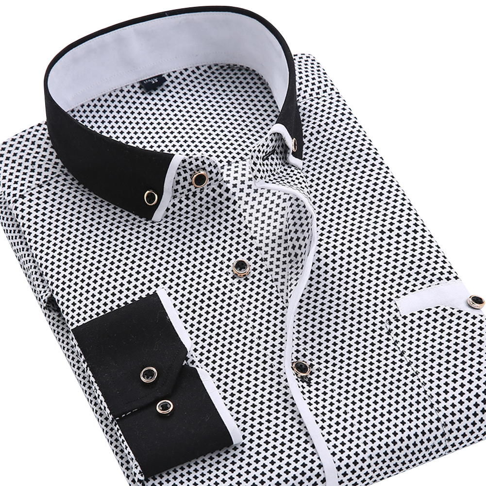 Men Casual Fashion Slim Fit Bussiness Style Thin Long Sleeve T-shirt XS15_39/M