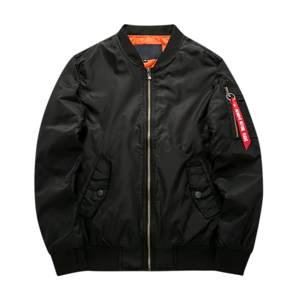 Men Winter Thick Jacket Warm Casual Cotton Short Coat Outwear Tops black_M
