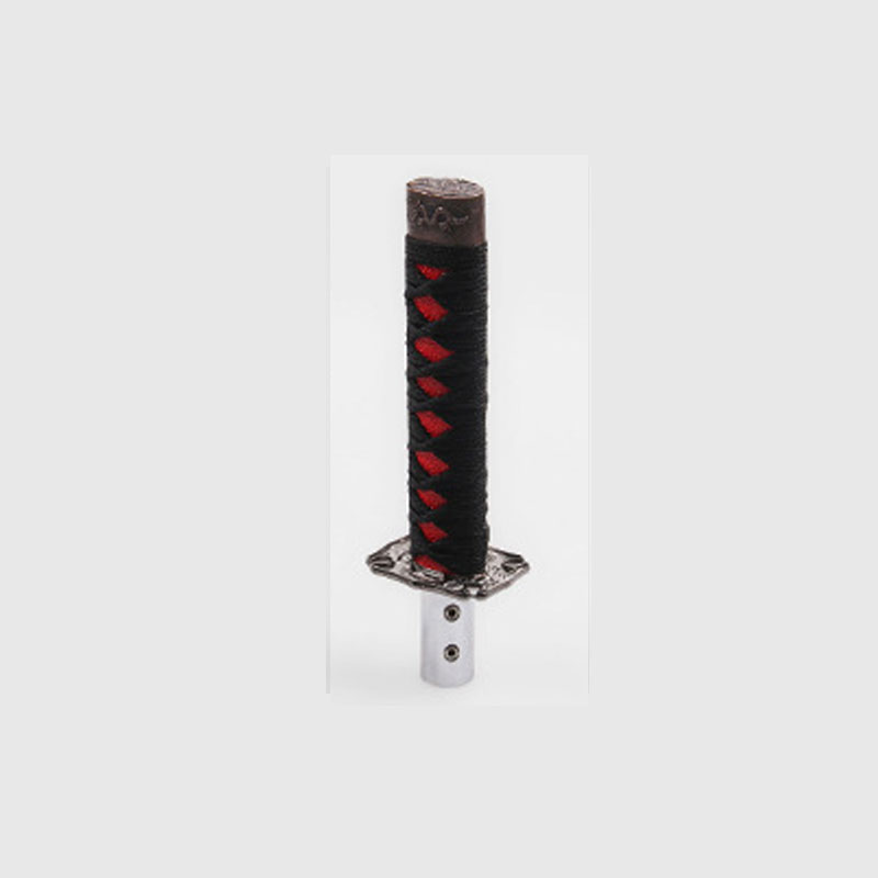Universal Samurai Sword Knob - Black + Red