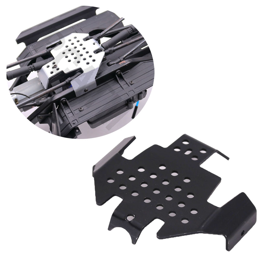 RC Car TRX-4 Bumper Chassis Armor Protection Skid Plate for Traxxass TRX4 Upgrade Parts CNC aluminum alloy_black