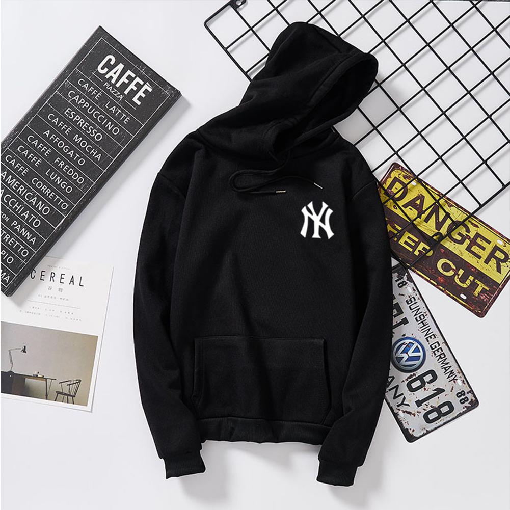 Women Men Loose Long Sleeve Casual Sports Fleece Sweatshirts Coat black_2XL
