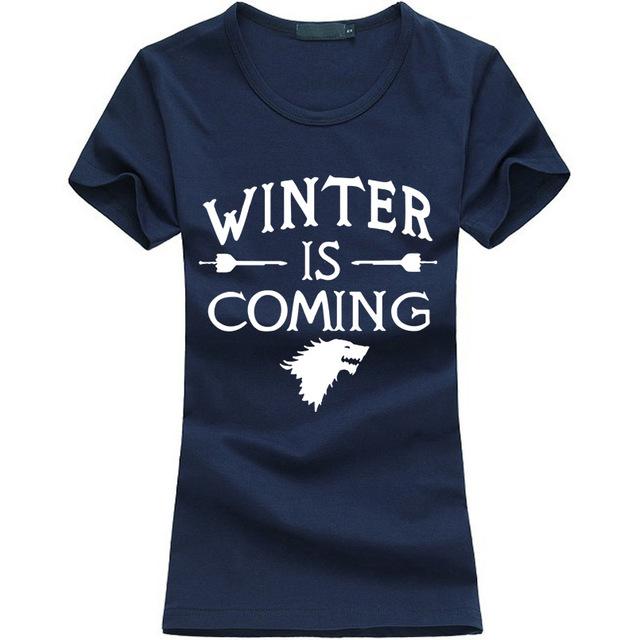 Hot Sale Kawaii Printed Game of Thrones women T Shirt summer Casual cotton Tops tees fashion harajuku brand female punk t-shirt