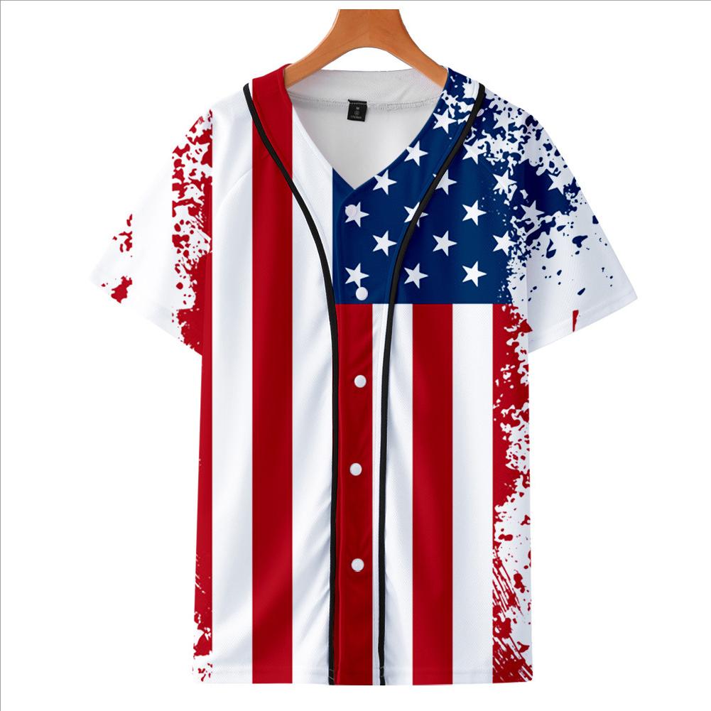 Fashion Round Collar Women Men 3D Print Vivid Color Casual T-Shirt  B_XL