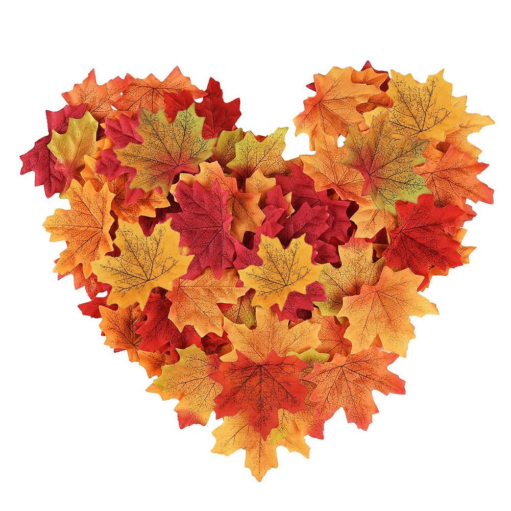 8cm Color Mixed Artificial Maple Leaf for Autumn Wedding Decoration