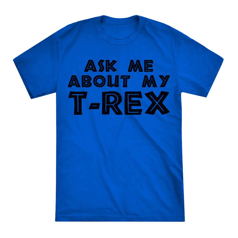 Men Women Unique Funny Reversible Cartoon Short Sleeve T-Shirt blue_XXXL