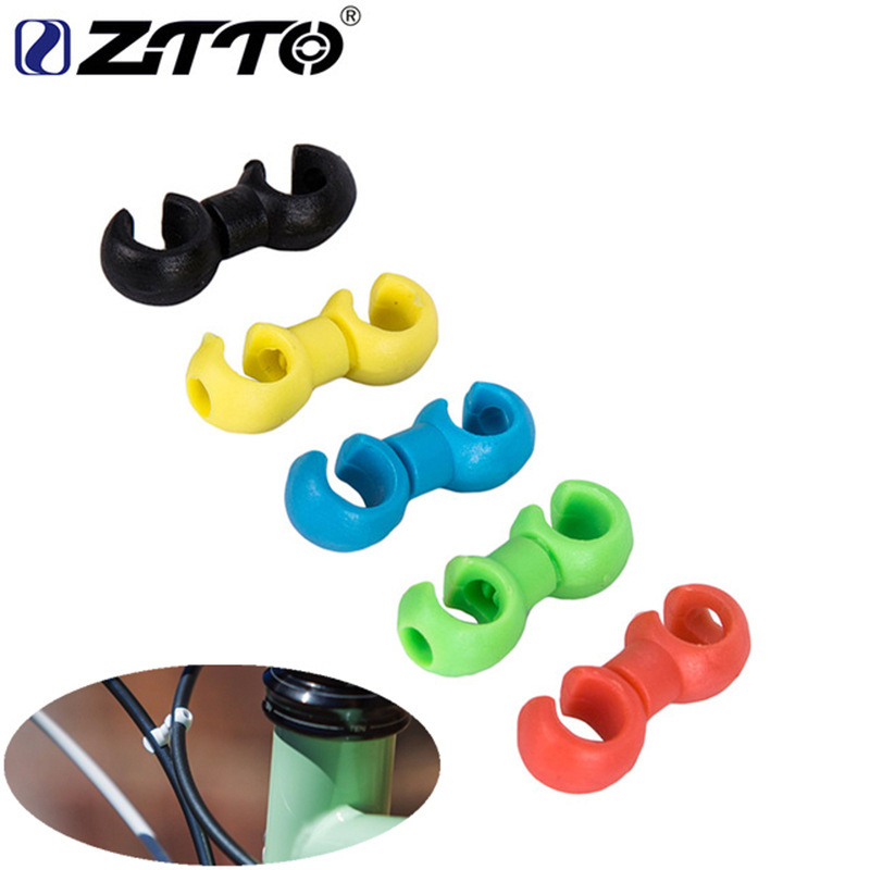 Bicycle MTB Brake Cable S Style Clips Buckle Hose Guide Bike Cross Line Clip green