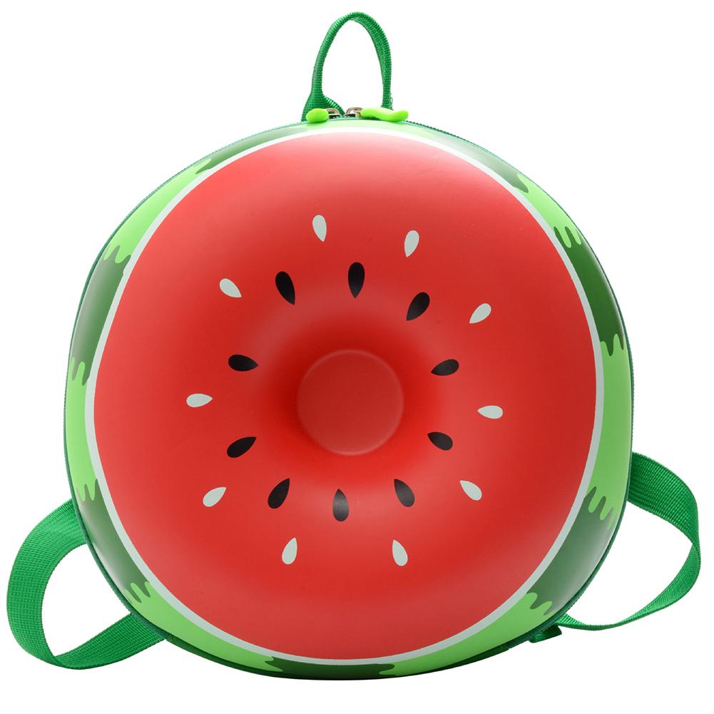 Baby Backpack Nylon Pvc Waterproof Cartoon Fruit Shape Cute Snack Bag watermelon
