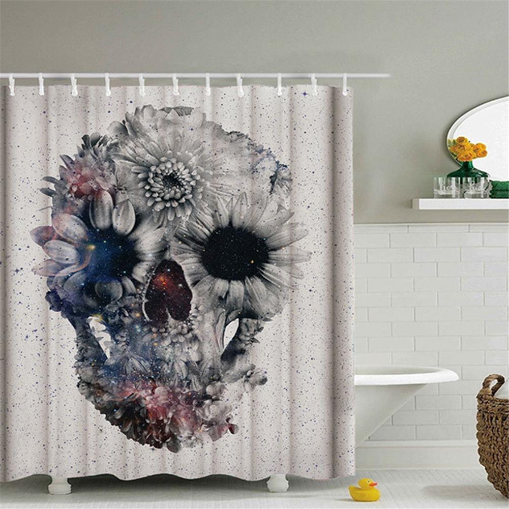 Skulls Printing Shower  Curtain Waterproof Bathtub Bathroom Decoration 150*180cm