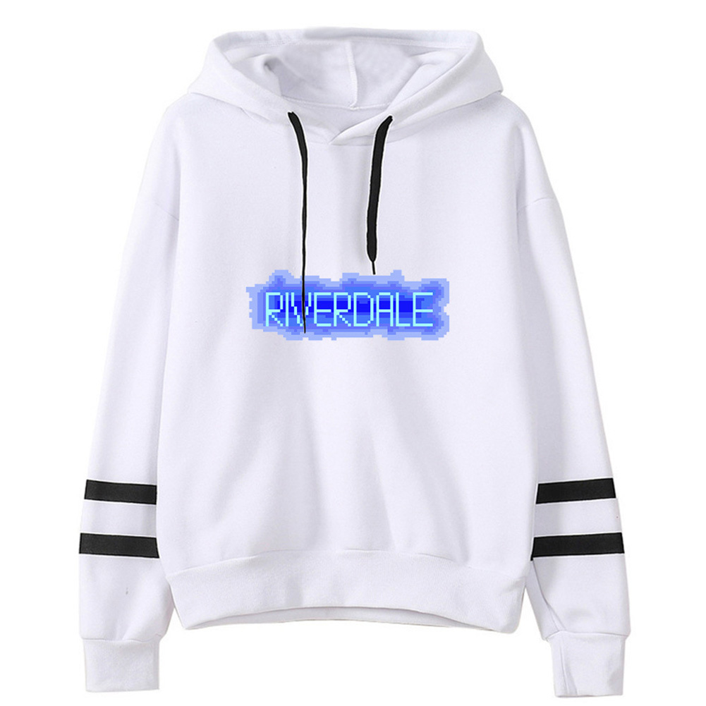 Men Women American Drama Riverdale Fleece Lined Thickening Hooded Sweater White C_M