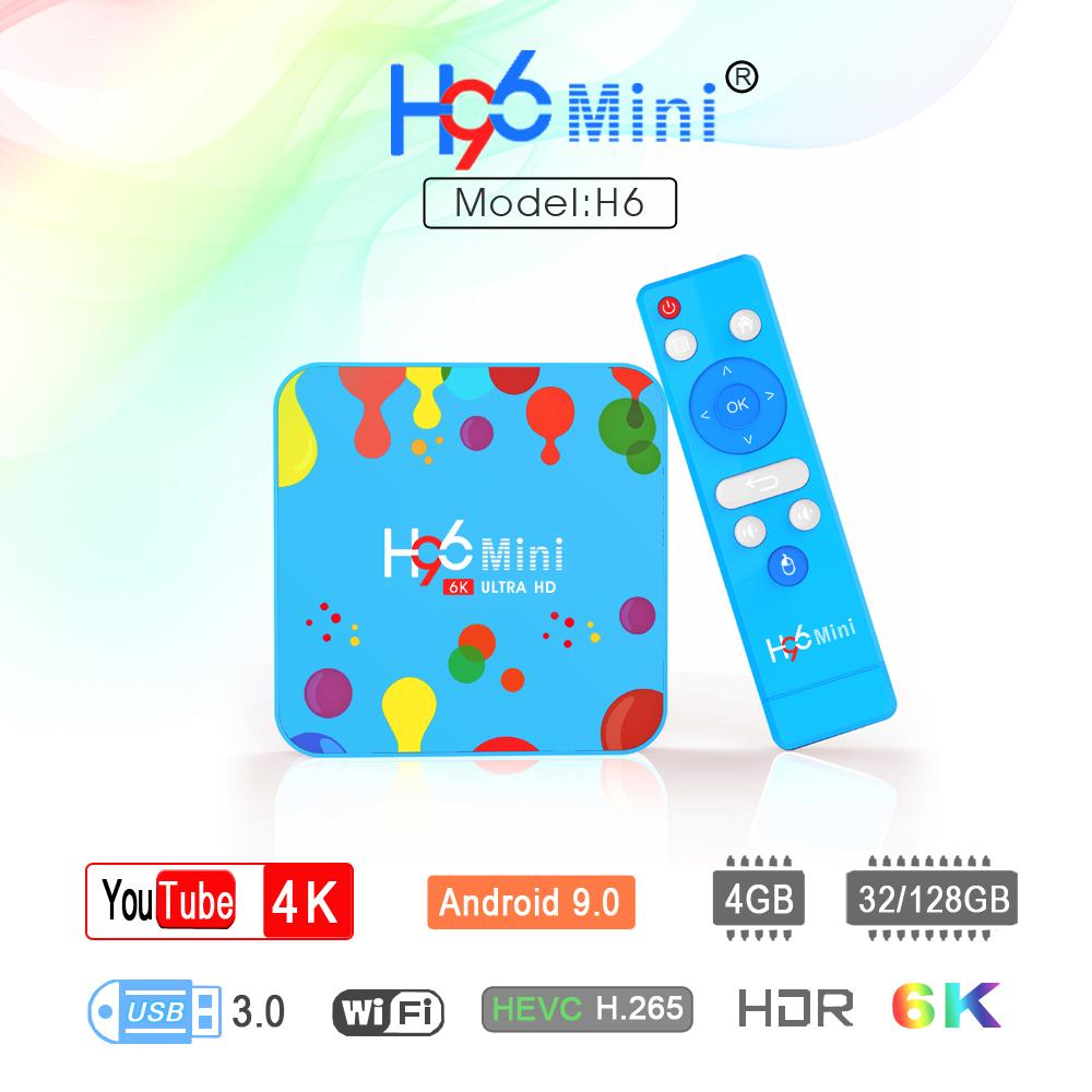 H96 MINI Allwinner H6 Quad Core 64-bit Smart TV Box H.265 Wifi HD Google Player Youtube Set Top Box  4G+32G