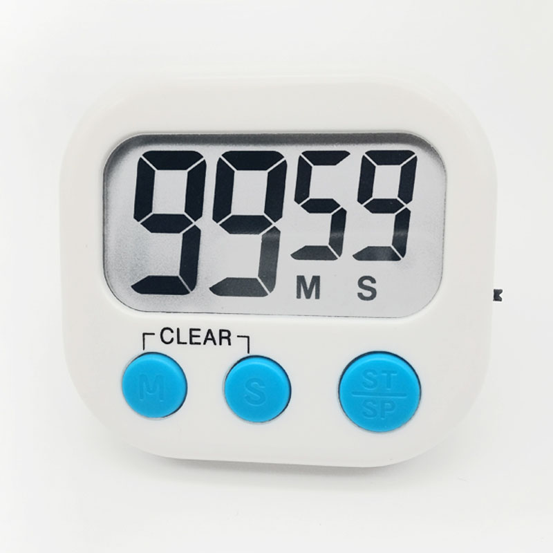 Large LCD Digital Magnetic Kitchen Countdown Timer Alarm with Stand Kitchen Timer Cooking Timer Alarm Clock White