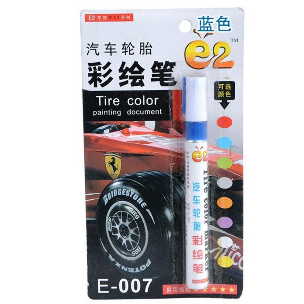 Tire Pen Colorful Styling Waterproof Pen Car truck Tires Tread Metal Permanent Paint Markers blue
