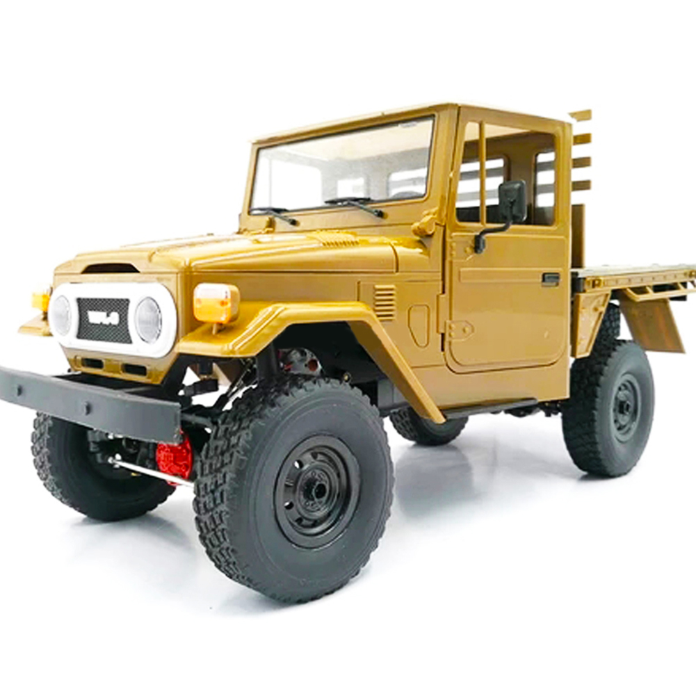 WPL C44KM 1/16 Metal Edition Kit 4Wd Climbing Off-Road Truck Diy Accessories Modified Upgrade Without ESC Battery Transmitter Receiver yellow