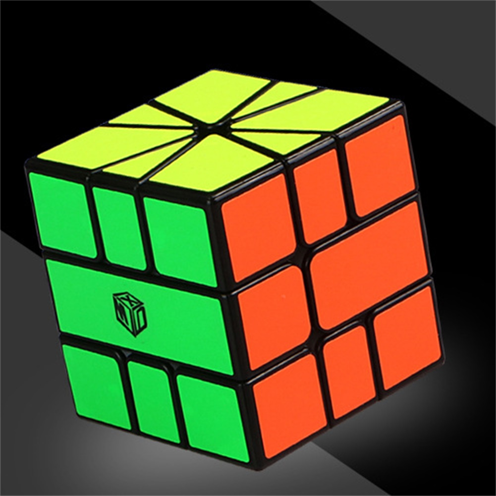 Qiyi Sq-1 Magic Cube Puzzle Toy For Kids Boys  Girls Stress Reliever black