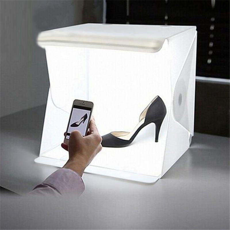 LED Folding Lightbox Photo Studio LED Desktop Studio Portable Photography Lightbox magnet type