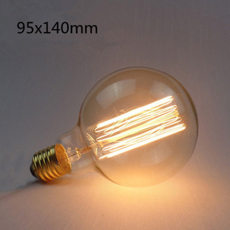 LED Retro Style Edison Tungsten Lamp Bulb Warm Yellow Lighing Color  G95 straight wire