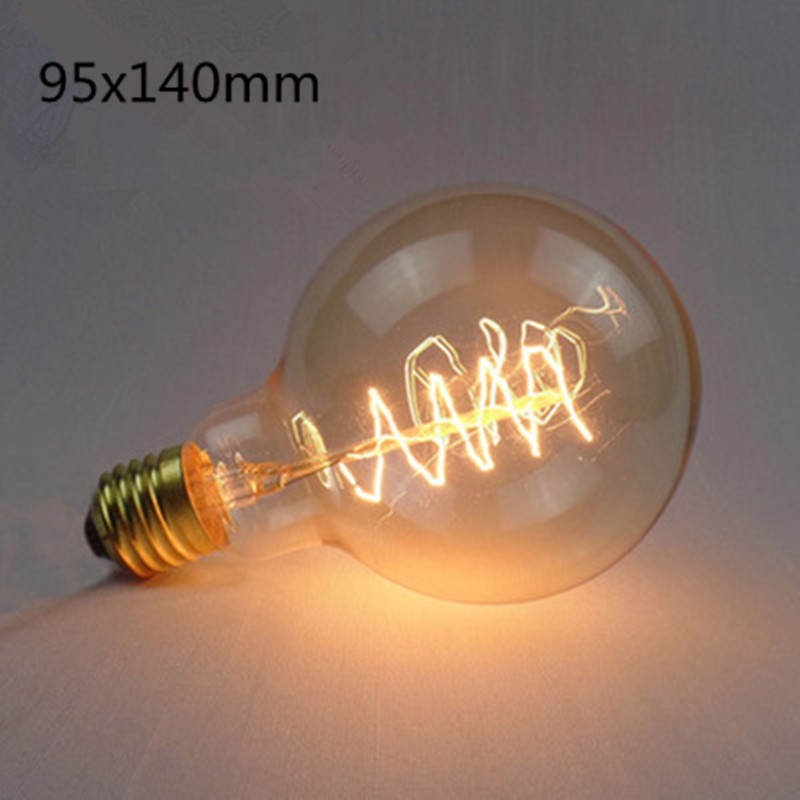LED Retro Style Edison Tungsten Lamp Bulb Warm Yellow Lighing Color  G95 winding wire