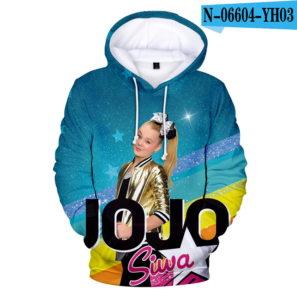 Men Women Hoodie Sweatshirt JOJO SIWA 3D Printing Loose Autumn Winter Pullover Tops C_M