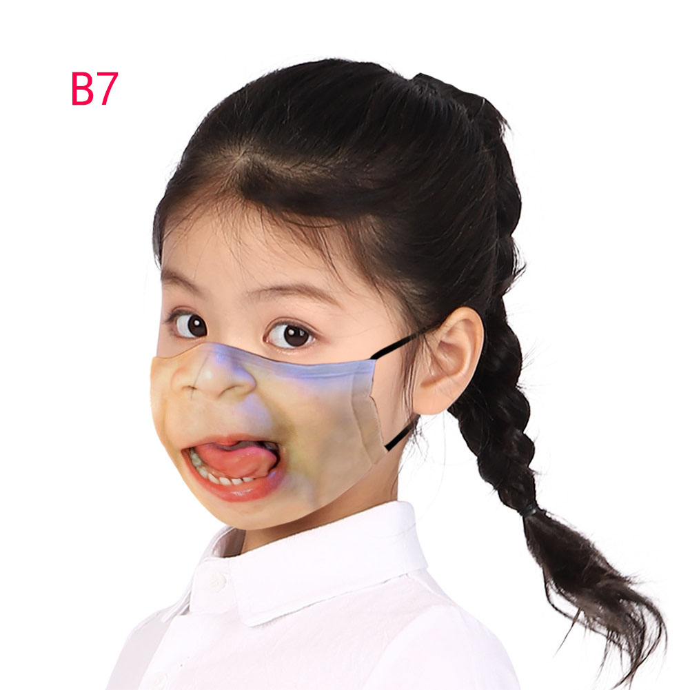 Dustproof Mask Washable Kids Halloween Printing Cotton Casual Mask