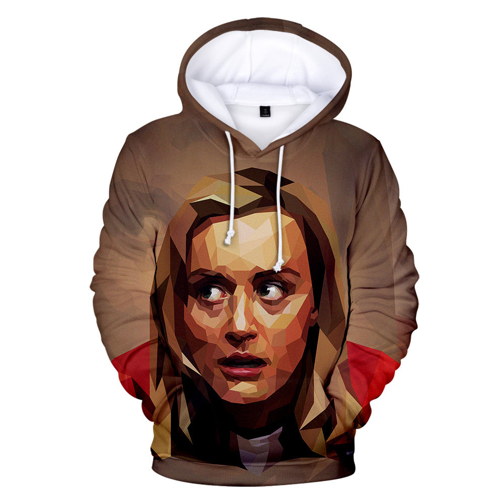 Couple Women Men American Drama Orange Is the New Black 3D Printing Hoodie Tops 2#_2XL