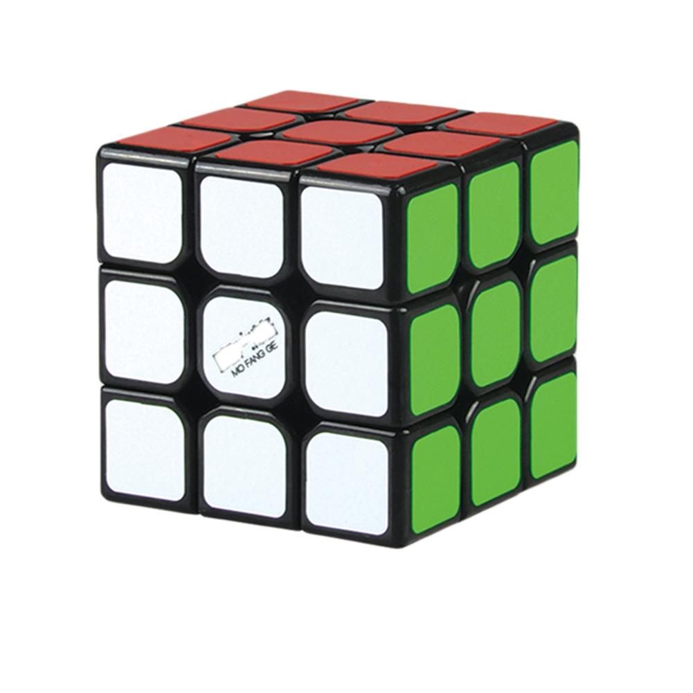 [EU Direct] 3*3*3 Magic Cube Plastic Speed Puzzle Cube Children Educational Toy black