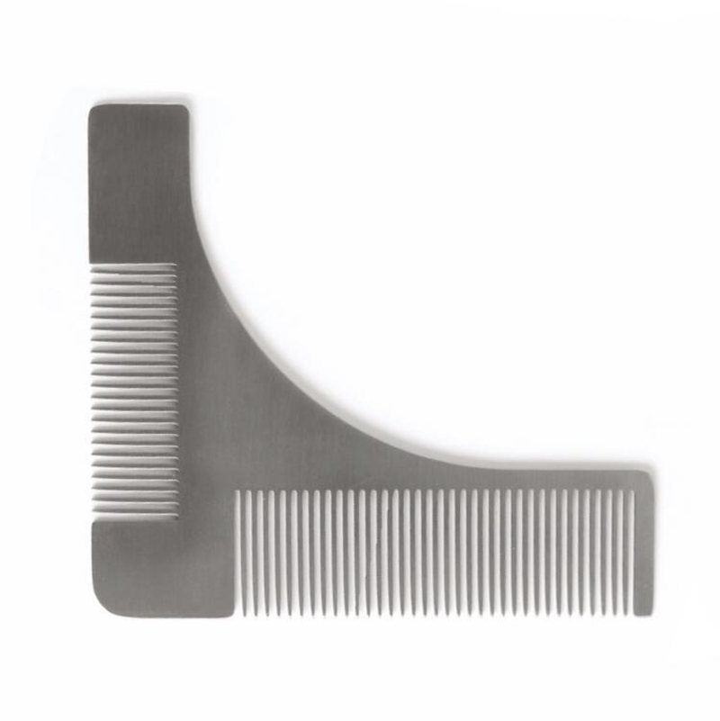[EU Direct] Stainless steel Beard Styling & Shaping Template Comb Trim Tool Perfect for Lines & Symmetry