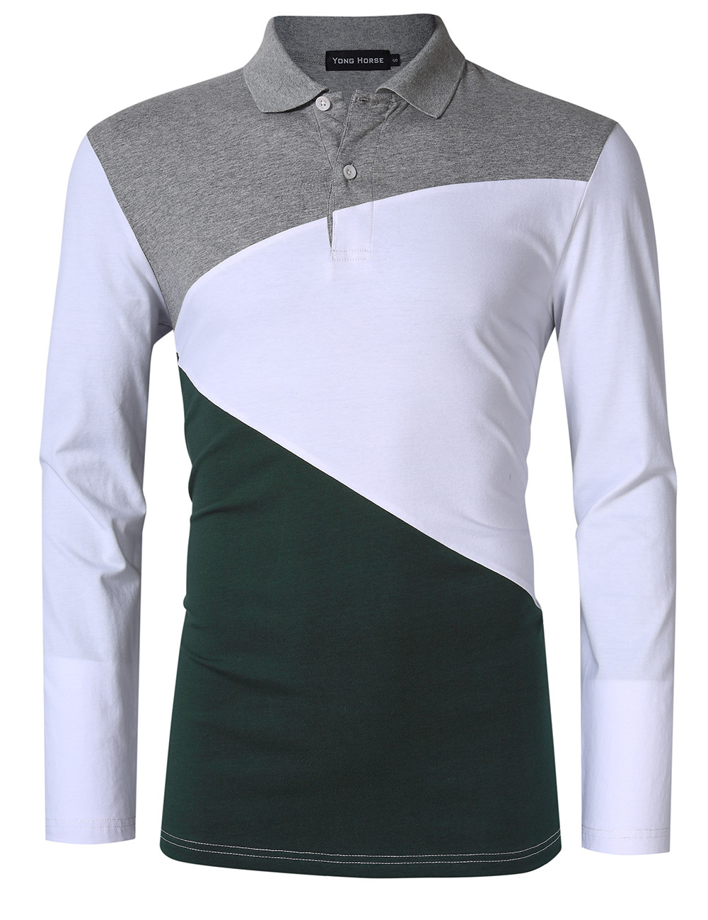 Men's Color Blocked Modern Fit Polo Shirt