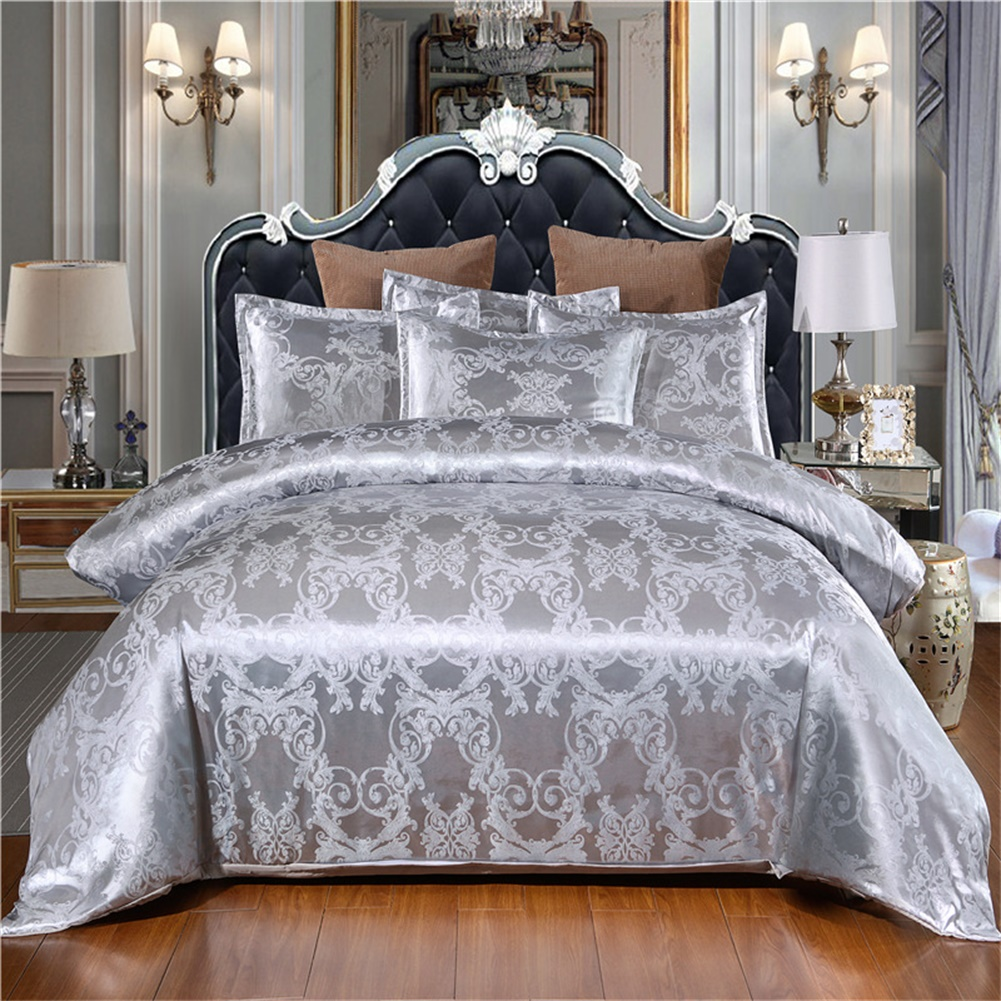 3pcs Night Bedding Jacquard Duvet  Cover Pillowcase For  Home  Hotel