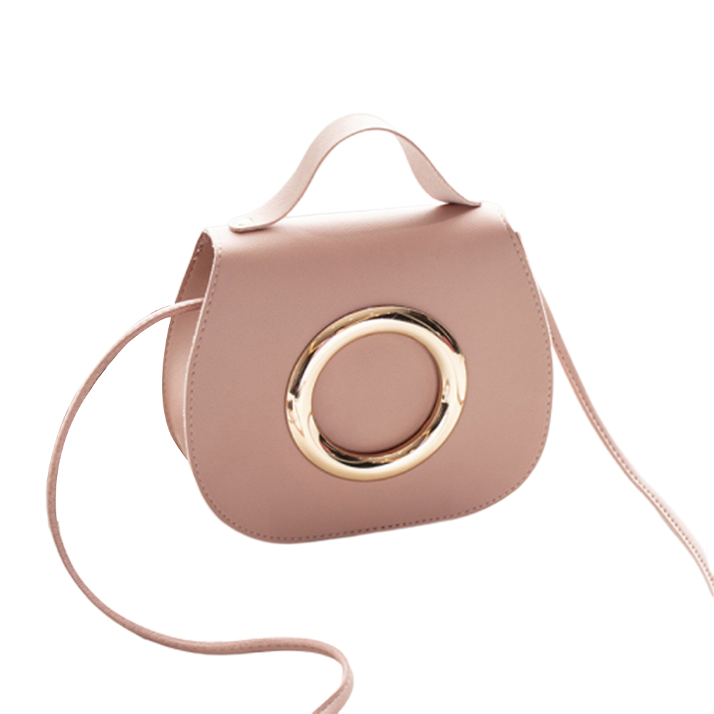 Woman Casual Elegant Style Shoulder Pouch Singal Shoulder Belt Bag Shoulder Satchel Pink