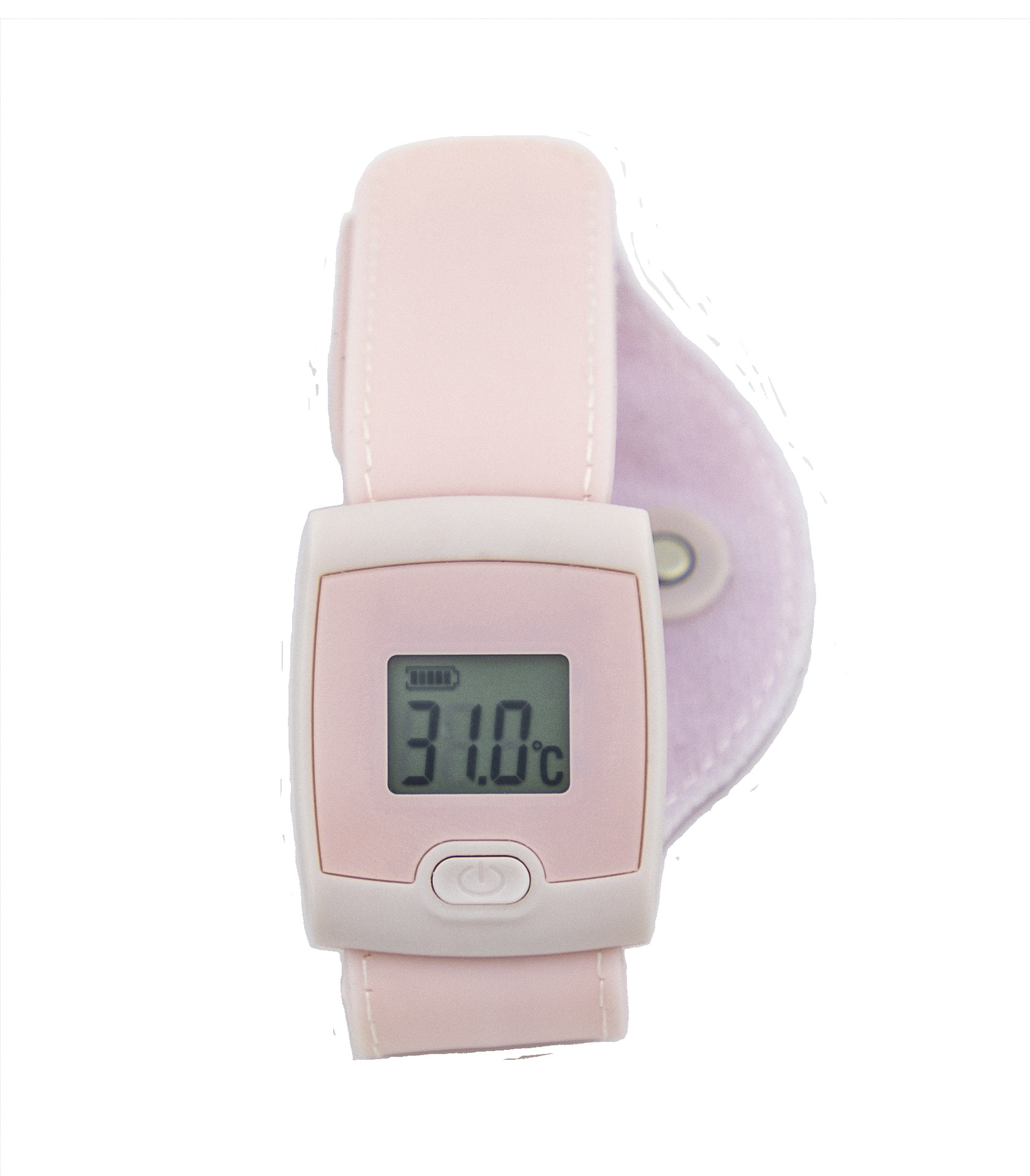 Bluetooth 4.0 Thermodetector Smart Thermomete Watch Type Portable Home Use Pink