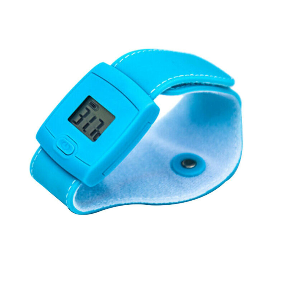 Bluetooth 4.0 Thermodetector Smart Thermomete Watch Type Portable Home Use Blue