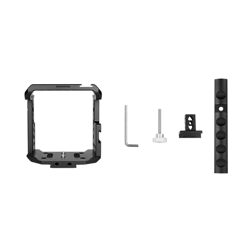 Black Camera Cage+Top Handle Kit Aluminium Alloy for Z CAM E2 Camera Accessories black