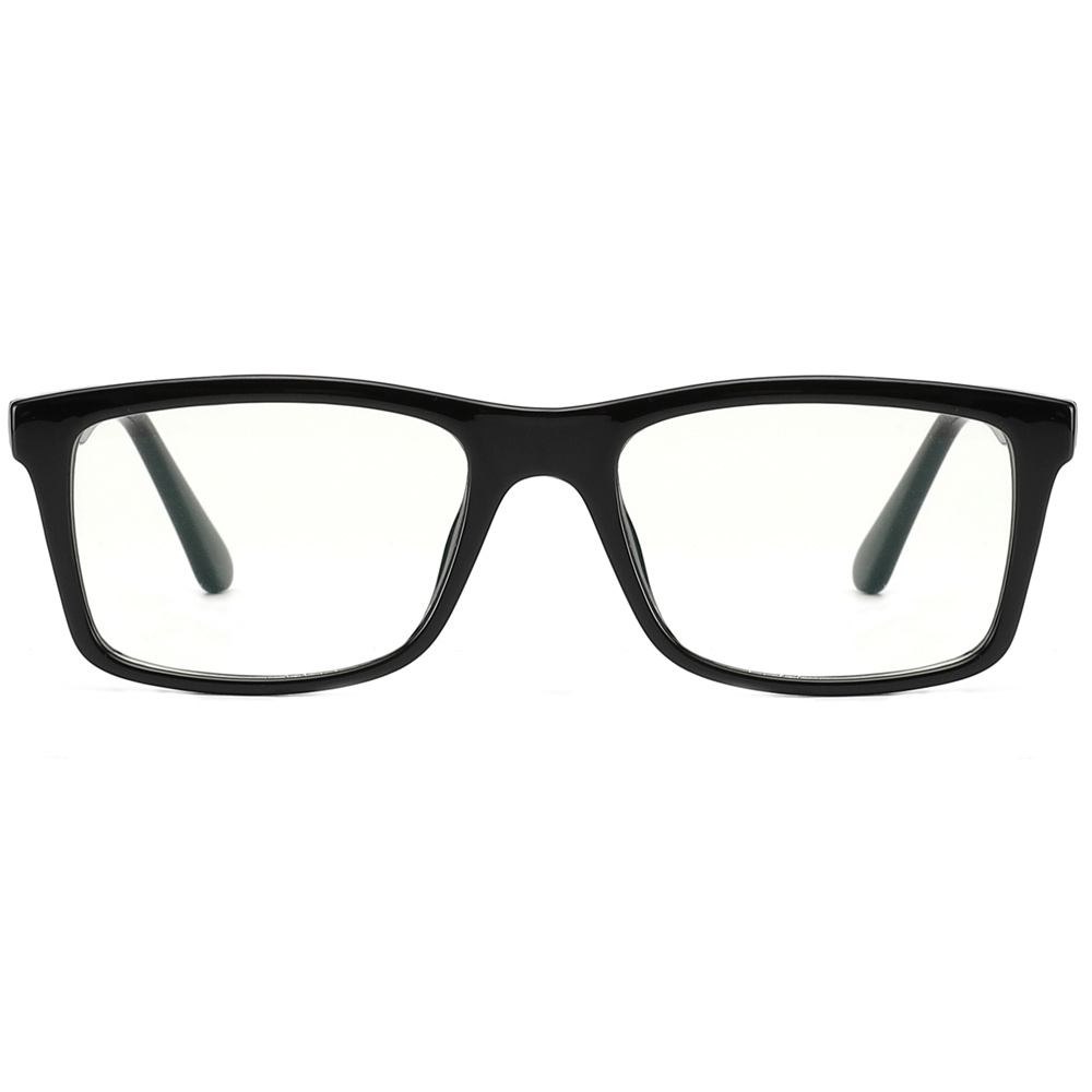 [US Direct] Cyxus Blue Light Blocking [Lightweight TR90] Glasses Anti Eye Strain Headache Computer Eyewear, Unisex (8323T01, Black) Block Droplets Black_M