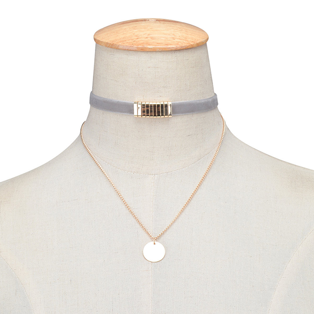 Women Simple Multi-element All Matching Sequined Necklace